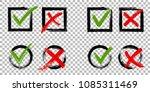 tick and cross test signs set ... | Shutterstock .eps vector #1085311469