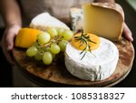 variation of cheese and green... | Shutterstock . vector #1085318327