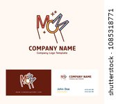 company logo design with name... | Shutterstock .eps vector #1085318771