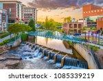 greenville  south carolina  usa ...   Shutterstock . vector #1085339219