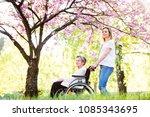elderly grandmother in...   Shutterstock . vector #1085343695
