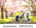 elderly grandmother in...   Shutterstock . vector #1085343761