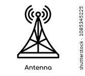 antenna icon isolated on white... | Shutterstock .eps vector #1085345225