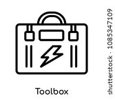 toolbox icon isolated on white... | Shutterstock .eps vector #1085347109