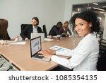 smiling millennial african... | Shutterstock . vector #1085354135