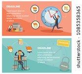 deadline and time management... | Shutterstock .eps vector #1085358365