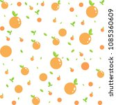 seamless vector orange fruit... | Shutterstock .eps vector #1085360609
