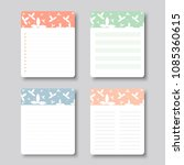 design elements for notebook ... | Shutterstock .eps vector #1085360615