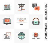 modern flat icons set of online ... | Shutterstock .eps vector #1085366207