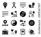 signs related set of 16 icons... | Shutterstock .eps vector #1085367587