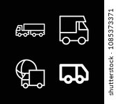 lorry related set of 4 icons...   Shutterstock .eps vector #1085373371