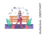 e learning education internet... | Shutterstock .eps vector #1085374457