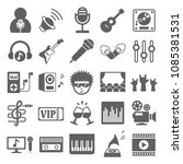 music icon set vector. symbol...