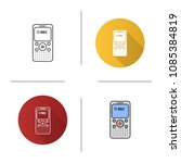 dictaphone icon. portable audio ...   Shutterstock .eps vector #1085384819