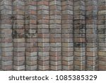 ceramic brick tile wall... | Shutterstock . vector #1085385329