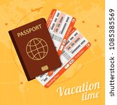 vacation and tourism concept... | Shutterstock .eps vector #1085385569