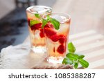 refreshing summer drink with... | Shutterstock . vector #1085388287
