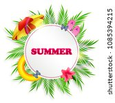 summer background with palm... | Shutterstock .eps vector #1085394215