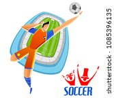 illustration of football... | Shutterstock .eps vector #1085396135