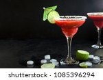 strawberry margarita or... | Shutterstock . vector #1085396294