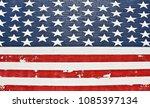 grunge american flag wall | Shutterstock . vector #1085397134