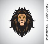angry lion king head logo... | Shutterstock .eps vector #1085402459