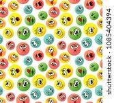 smiles emoji seamless pattern.... | Shutterstock .eps vector #1085404394
