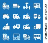 filled set of 16 vehicle icons... | Shutterstock .eps vector #1085404655