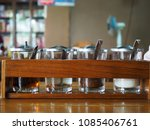 noodle condiment on wooden... | Shutterstock . vector #1085406761