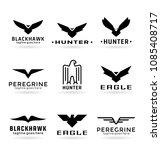 eagle logo vector design ... | Shutterstock .eps vector #1085408717