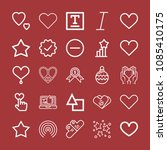outline set of 25 shapes icons... | Shutterstock .eps vector #1085410175