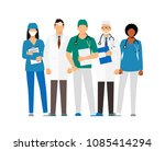 doctors and assistant in a... | Shutterstock .eps vector #1085414294