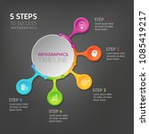 five steps infographics   can... | Shutterstock .eps vector #1085419217