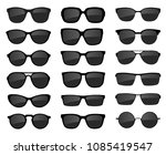 a set of glasses isolated.... | Shutterstock .eps vector #1085419547
