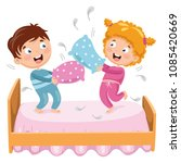 vector illustration of kids... | Shutterstock .eps vector #1085420669