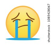 disappointed expression emoji... | Shutterstock .eps vector #1085428067