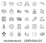 thin line icon set  ... | Shutterstock .eps vector #1085436101