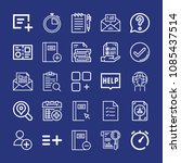 outline interface icon set such ...   Shutterstock .eps vector #1085437514