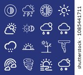 outline weather icon set such... | Shutterstock .eps vector #1085441711