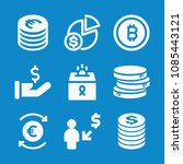 filled coin icon set such as... | Shutterstock .eps vector #1085443121