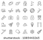 thin line icon set   volleyball ... | Shutterstock .eps vector #1085443265
