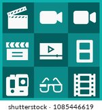 filled movie icon set such as... | Shutterstock .eps vector #1085446619