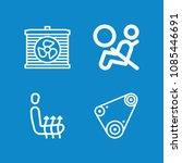 outline car icon set such as... | Shutterstock .eps vector #1085446691