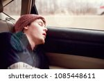 young man sleeping in the... | Shutterstock . vector #1085448611