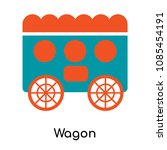 wagon icon isolated on white... | Shutterstock .eps vector #1085454191