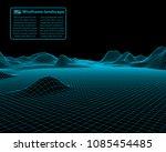 wireframe landscape wire.... | Shutterstock .eps vector #1085454485