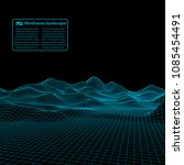 wireframe landscape wire.... | Shutterstock .eps vector #1085454491