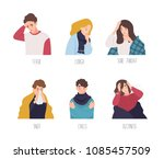 male and female cartoon... | Shutterstock .eps vector #1085457509