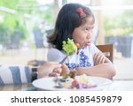asian child girl with... | Shutterstock . vector #1085459879