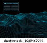 wireframe landscape wire.... | Shutterstock .eps vector #1085460044